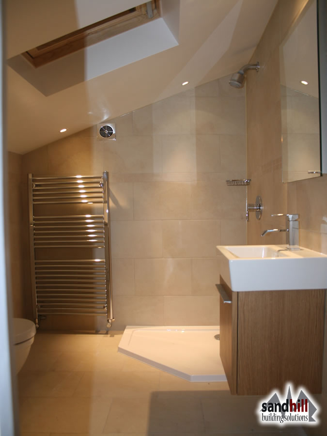 Loft conversion bedroom with ensuite putney london sw15 for Bathroom ideas loft conversion