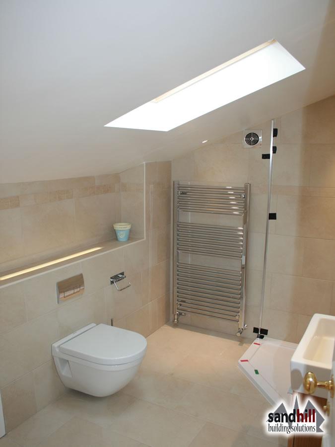 attic bedroom layout ideas - Loft conversion bedroom with ensuite Putney London SW15