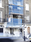 4 storey house exterior renovation, London SW1