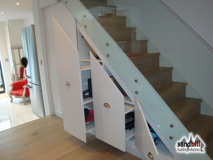 Building Wine Storage Under Stairs