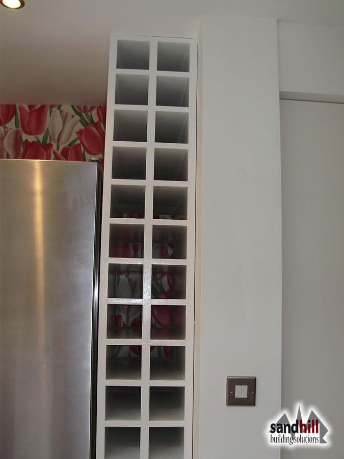 Stair Renovation Glass Balustrade Wine Rack London Sw11