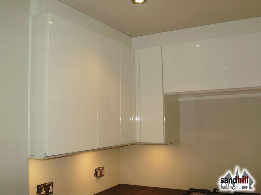 Kitchen bathroom renovation in wandsworth london sw11 for White gloss kitchen corner unit